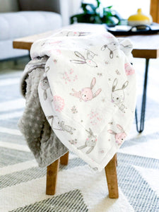Blankets - Bunny Hop - Soft Baby Minky Blanket
