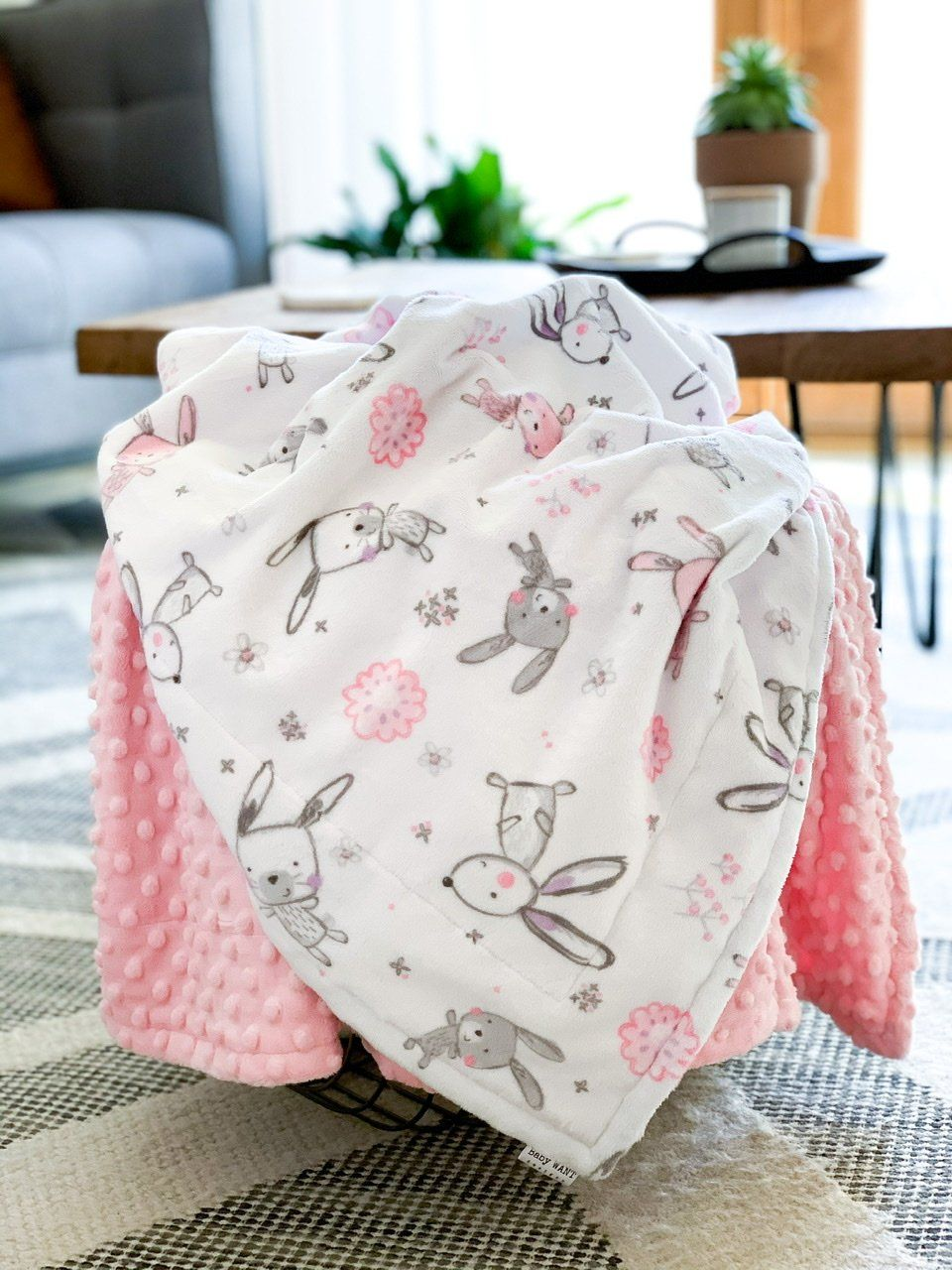 Blankets - Bunny Hop - Soft Youth Minky Blanket