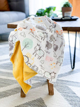Load image into Gallery viewer, Blankets - E-I-E-I-O - Soft Baby Minky Blanket