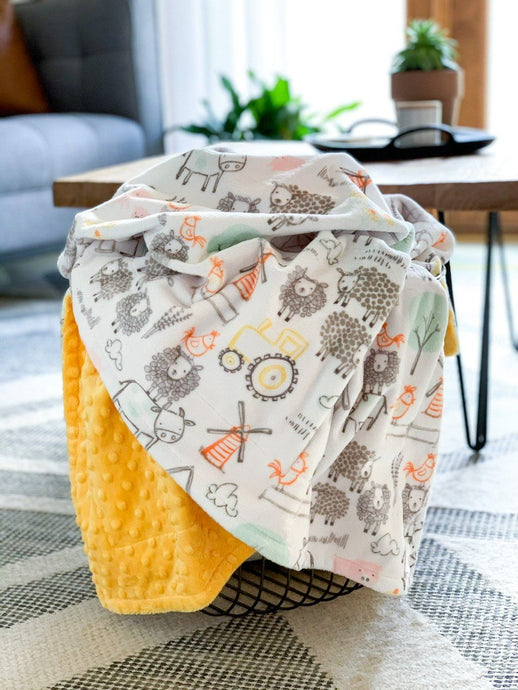 Blankets - E-I-E-I-O - Soft Youth Minky Blanket
