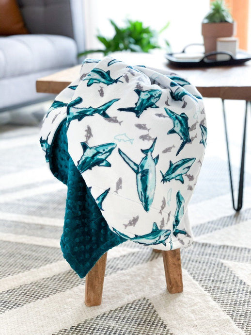 Blankets - Fintastic! - Soft Baby Minky Blanket