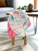 Load image into Gallery viewer, Blankets - Flamingle - Soft Baby Minky Blanket