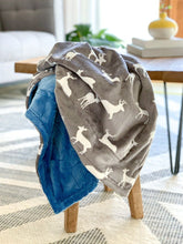 Load image into Gallery viewer, Blankets - Graphite Deer - Soft Baby Minky Blanket