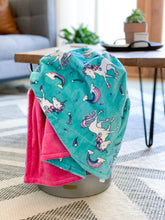 Load image into Gallery viewer, Blankets - Rainbow Magic - Soft Toddler Minky Blanket