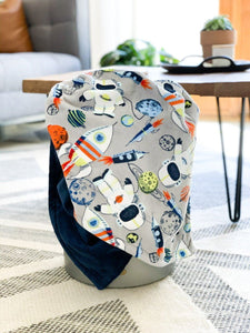 Blankets - Space Cadet - Soft Toddler Minky Blanket