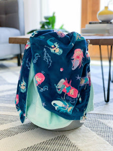 Blankets - Splash!/Honeydew - Soft Toddler Minky Blanket