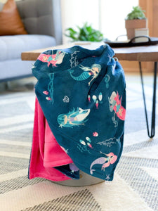 Blankets - Splash! - Soft Toddler Minky Blanket