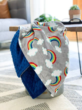 Load image into Gallery viewer, Blankets - Sweet Rainbows - Soft Toddler Minky Blanket