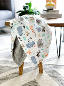 Blankets - The Mighty Jungle - Soft Baby Minky Blanket