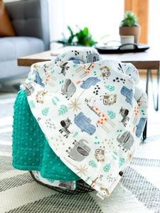 Blankets - The Mighty Jungle - Soft Youth Minky Blanket