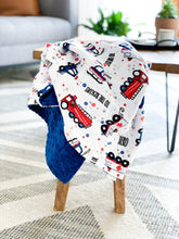 Load image into Gallery viewer, Blankets - To The Rescue! - Soft Baby Minky Blanket