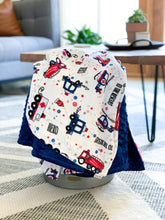 Load image into Gallery viewer, Blankets - To The Rescue! - Soft Toddler Minky Blanket