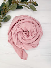 Load image into Gallery viewer, Dusty Rose Bamboo Swaddle