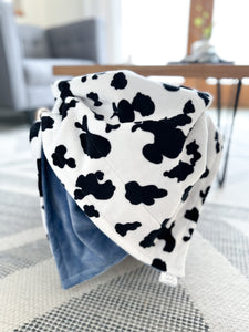 Graphite Deer - Soft Baby Minky Blanket