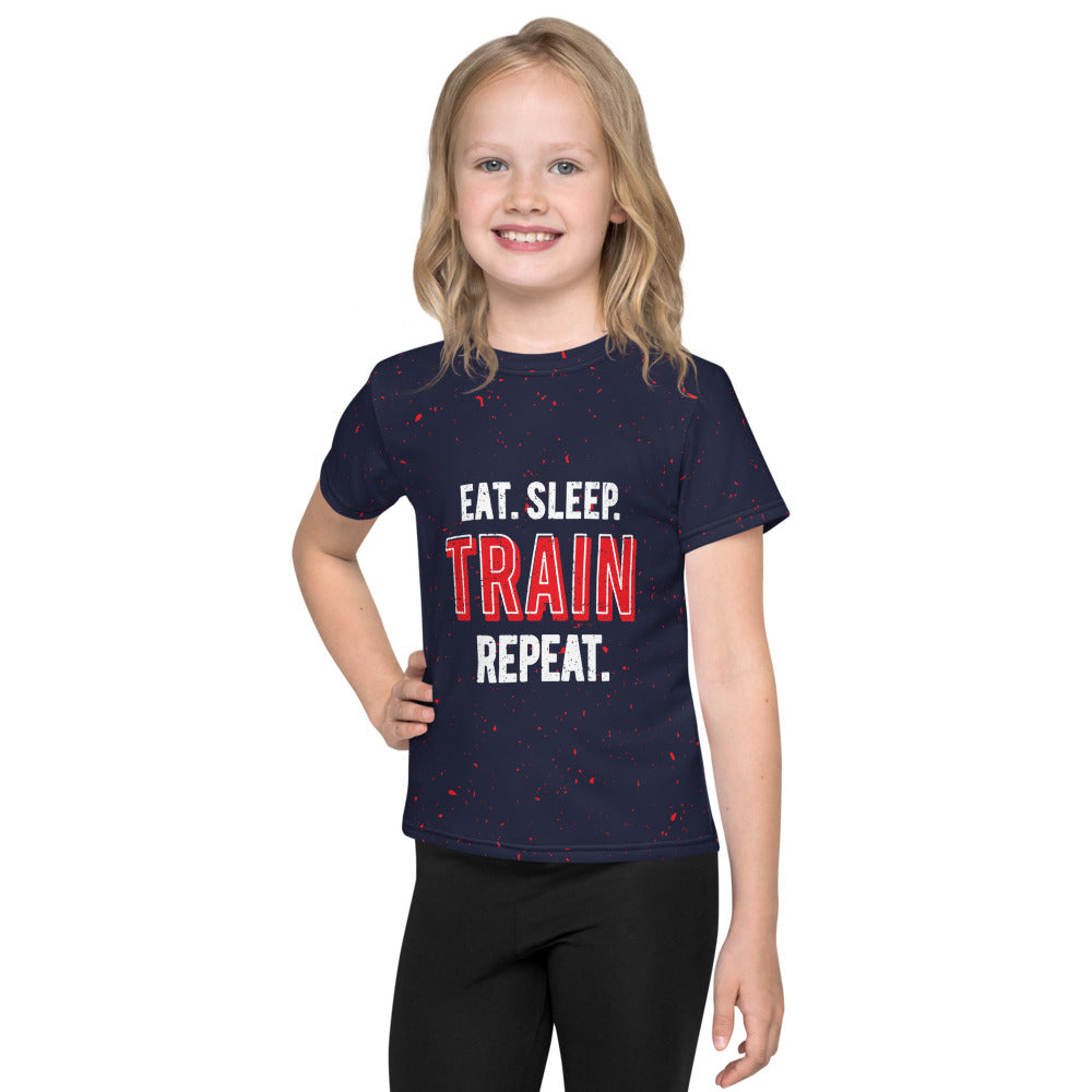 Quadzilla Eat.Sleep.Train.Repeat Kids T-Shirt