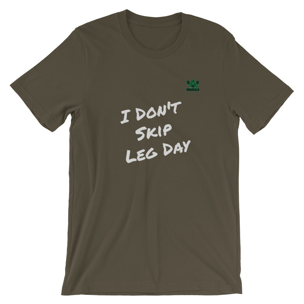 Quadzilla Don't Skip Leg Day Short-Sleeve Army Mens T-Shirt