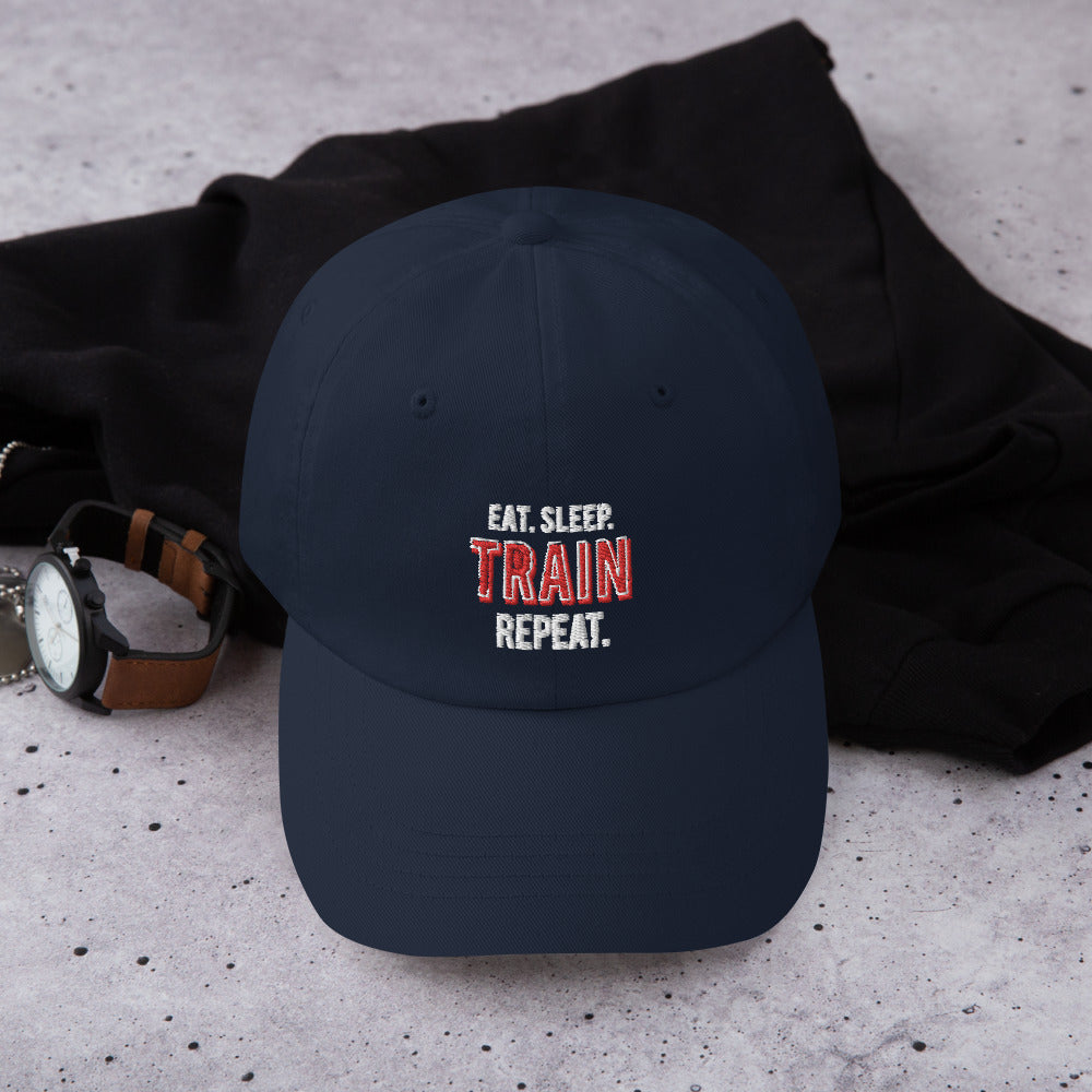 Quadzilla Eat.Sleep.Train.Repeat Dad hat