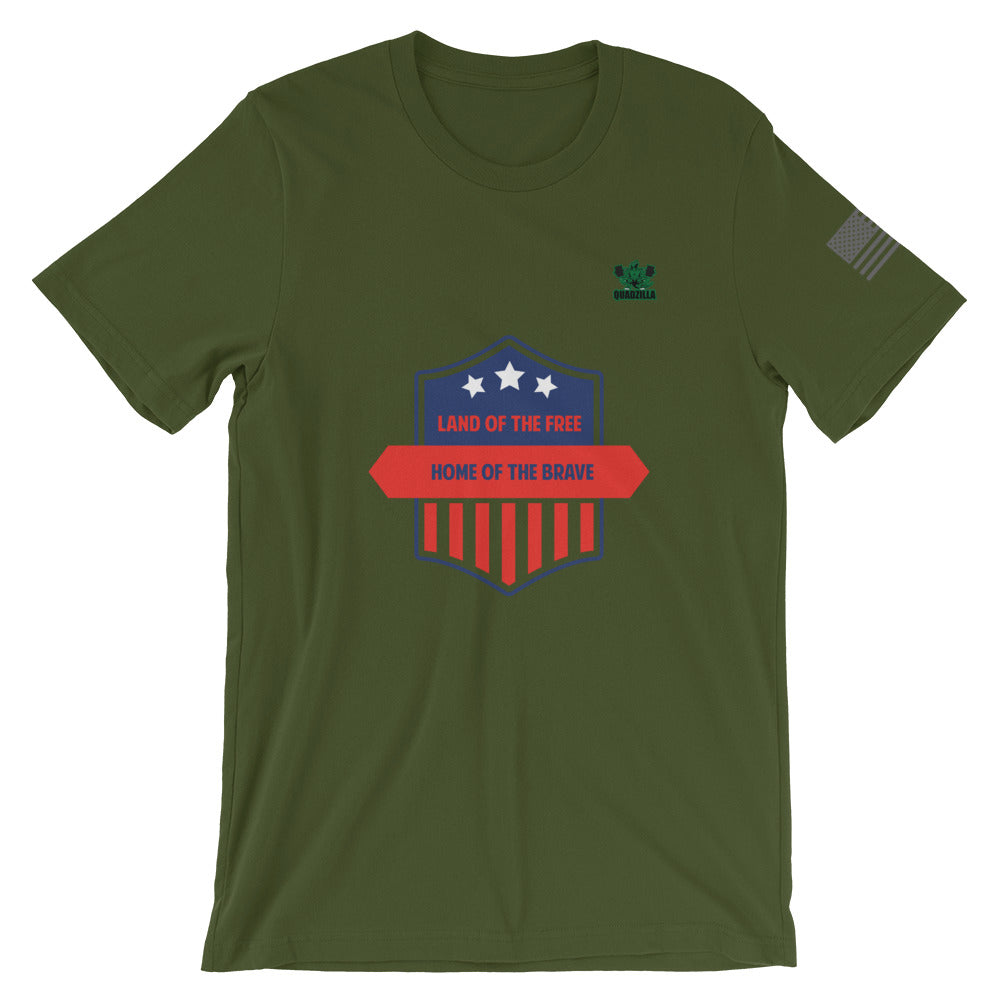 Quadzilla Land Of The Free Short-Sleeve Mens Olive T-Shirt