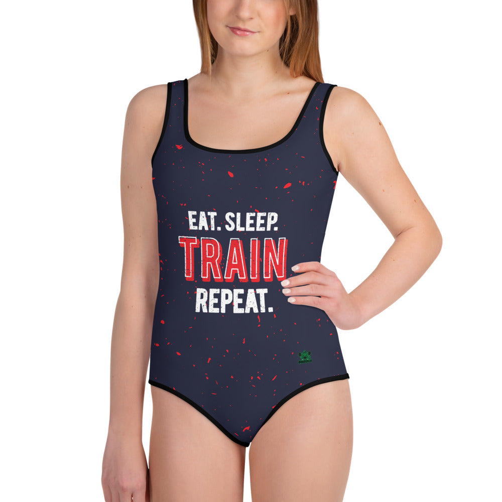 Quadzilla Eat.Sleep.Train.Repeat Girls Youth Swimsuit