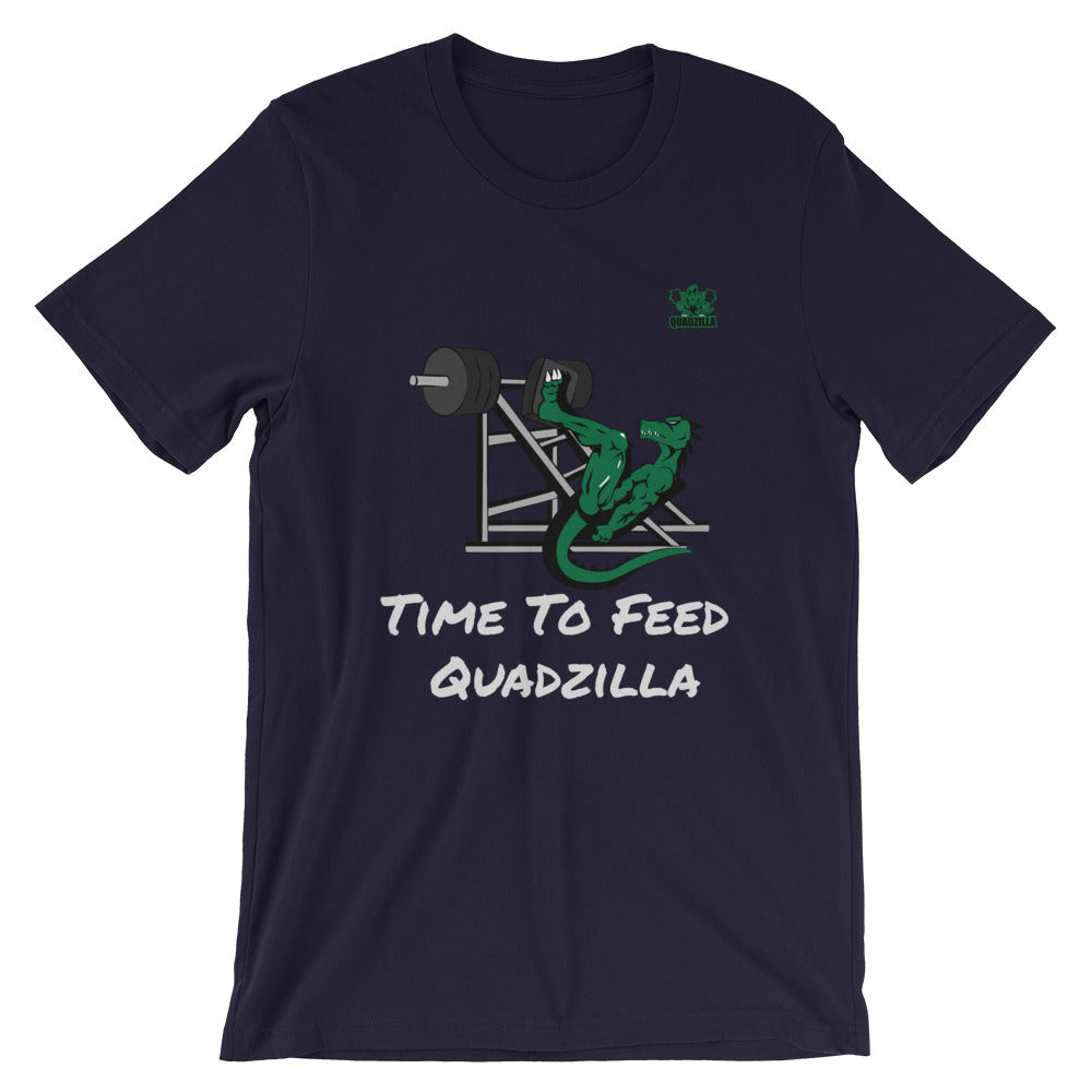 Quadzilla TTF Leg Press Short-Sleeve Navy Mens T-Shirt