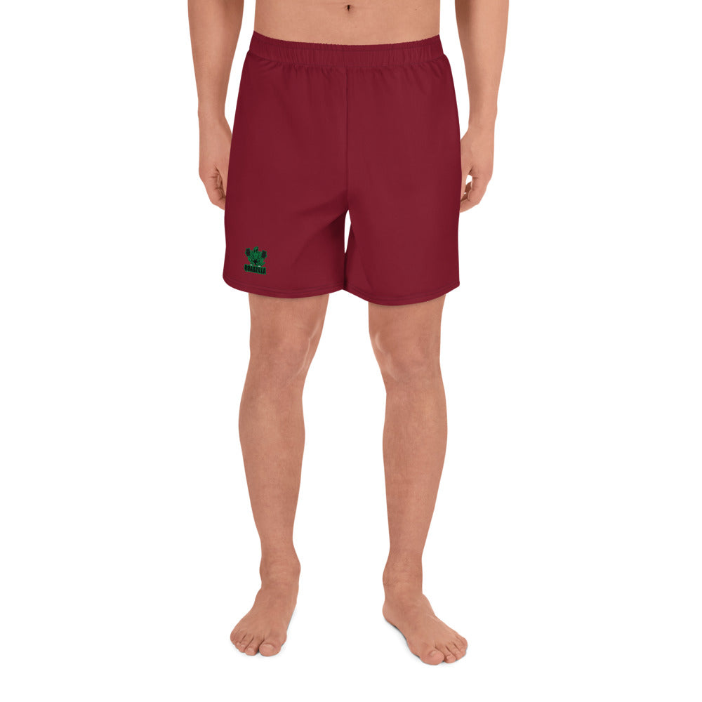 Quadzilla Men's Athletic Blood Red Long Shorts