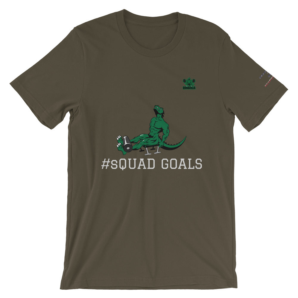 Quadzilla sQUAD GOALS Short-Sleeve Mens Army T-Shirt