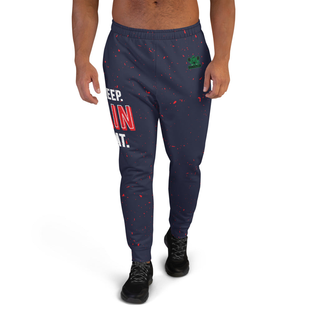 Quadzilla Eat.Sleep.Train.Repeat Men's Joggers