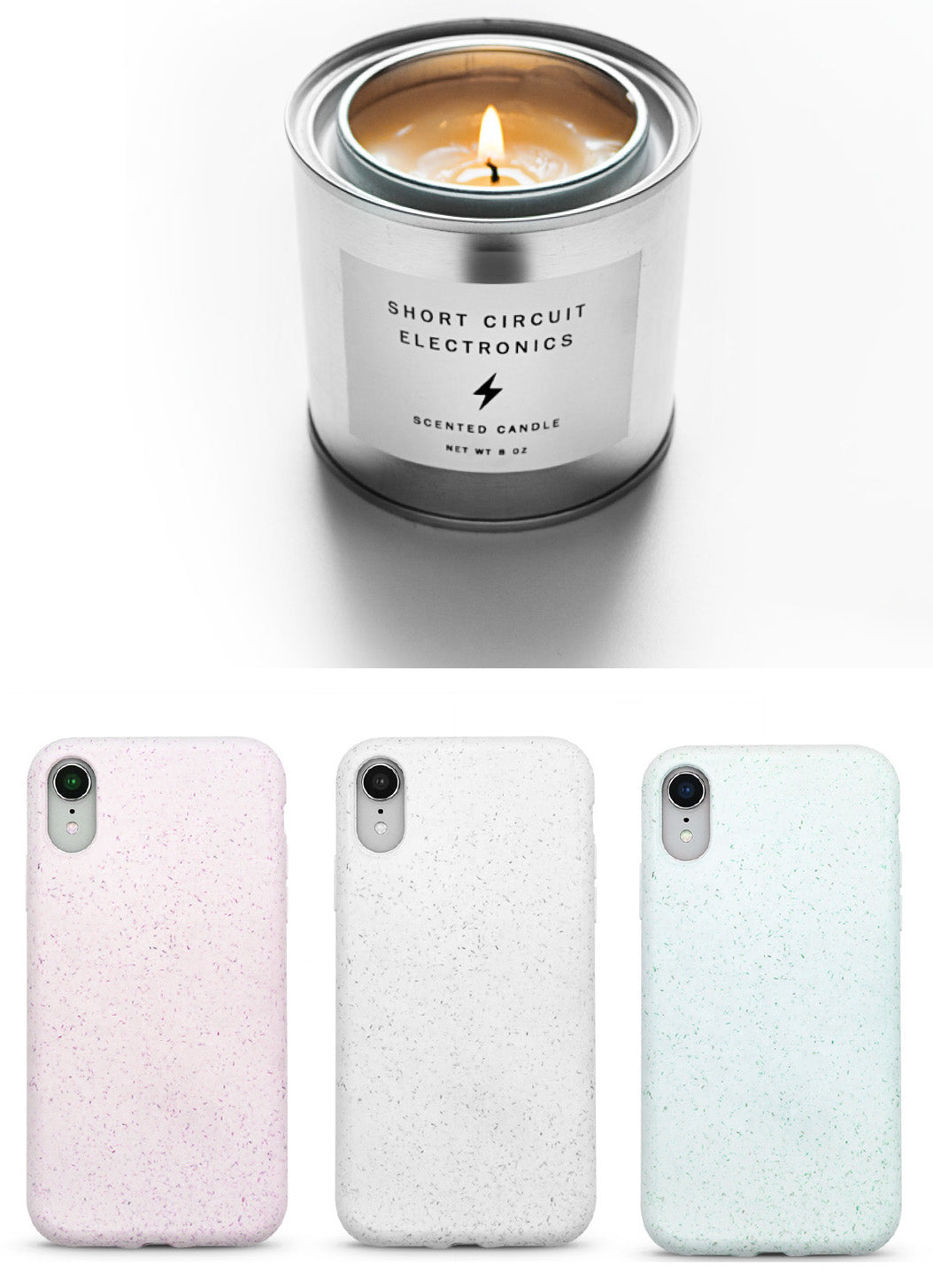 Soy Wax Candle Biodegradable Mobile Cases from Le Cord
