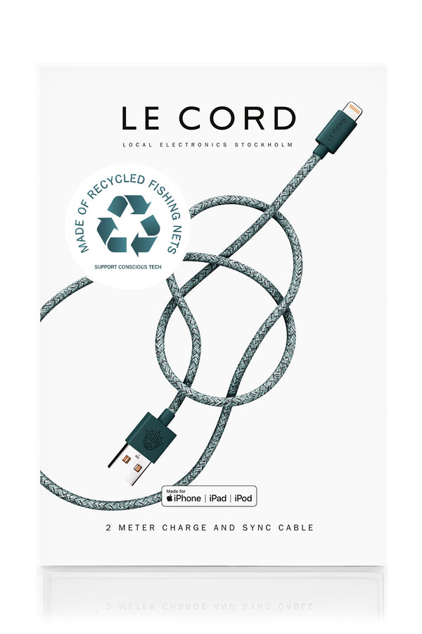 Le Cord recycled green iPhone cable