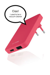 New Coral ReCharger · Recycled Wall Charger