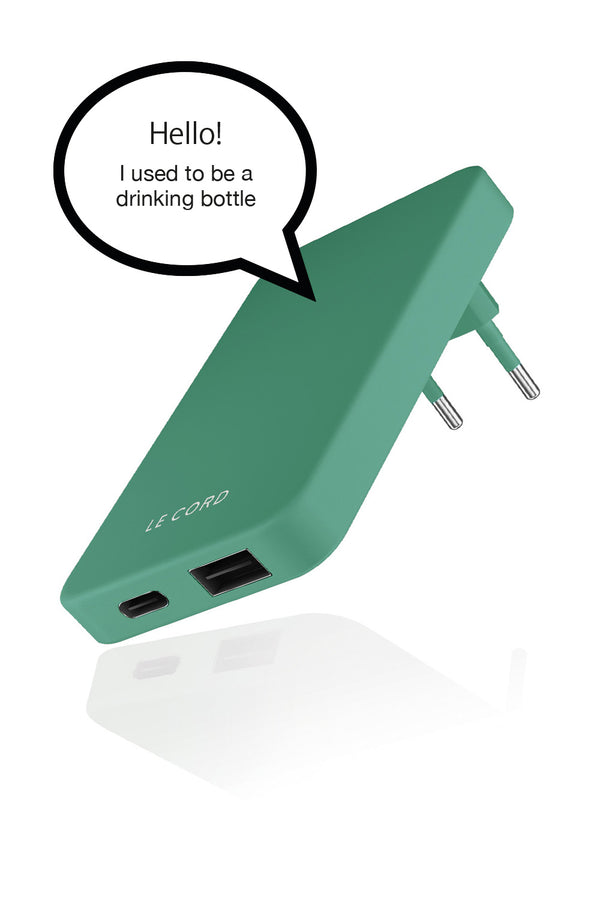 Pale Pine ReCharger · Recycled Wall Charger