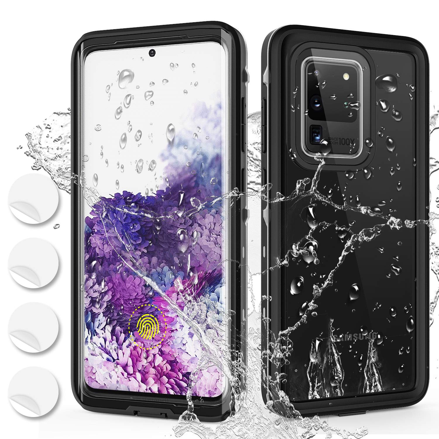 Samsung Galaxy S20 Ultra Waterproof Case Built-in Screen Protector IP68 Certified Full Body Protection Shockproof Underwater Cover Shell