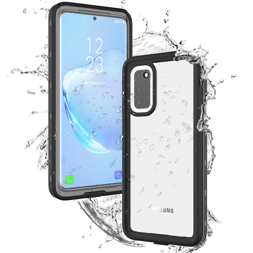 Samsung Galaxy S20 Waterproof Case Built in Screen Protector IP68 Certified Military Grade Full Protection Dustproof Shockproof Snowproof