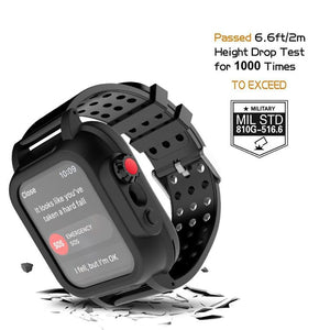 Apple Watch Series 6 Waterproof Case Built in Screen Protector IP68 Certified Military Grade Armor Rugged Full Body Protection iWatch Series 6 Bumper Band Strap Cover