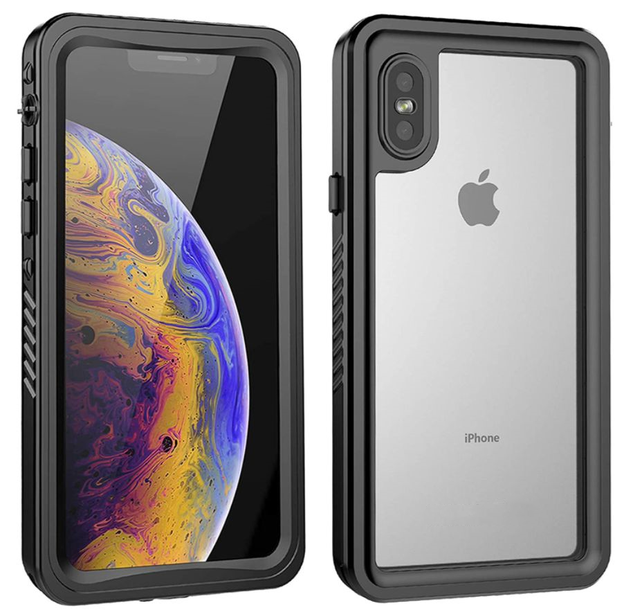 iPhone X Waterproof Case Built in Screen Protector IP68 Certified Thin Clear Underwater Cover Full Protection Shockproof Dirtproof Snowproof Protective