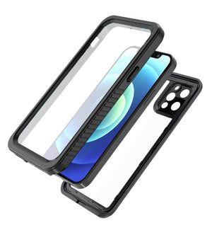 iPhone 12 Pro Max Waterproof Case Built in Screen Protector Cover Slim Clear Full Body Protection Rugged Shockproof Dustproof Snowproof