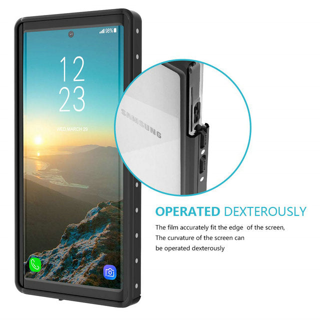 Samsung Galaxy Note 10 Plus Waterproof Case Note 10+ 5G Built in Screen Protector IP68 Certification Fully Body Protective Cover