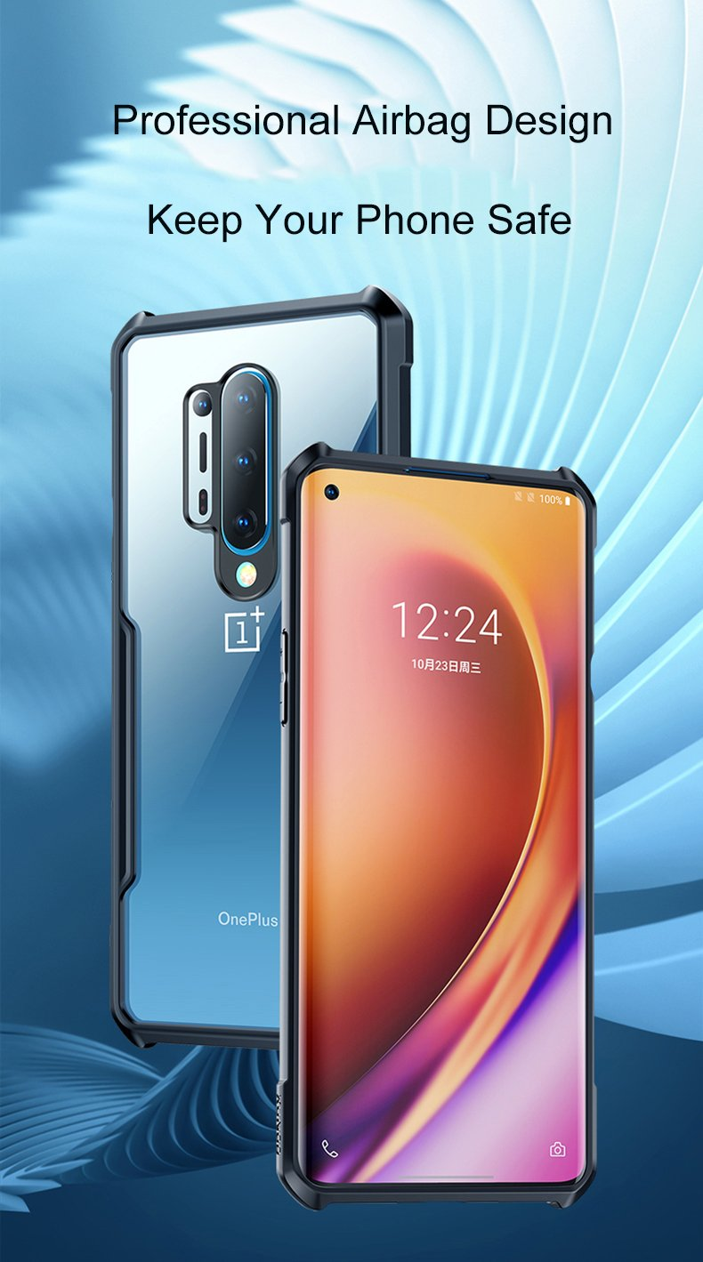 OnePlus 8 Waterproof Case Built in Screen Protector IP68 Certified 360 Full Body Protection Dirtproof Snowproof Shockproof Clear Cover