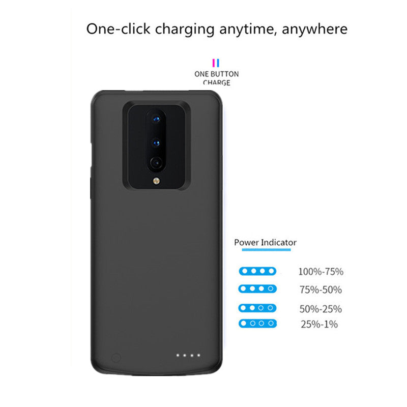 OnePlus 8 Battery Case Charging Cover 6800mAh Rechargeable Portable Power Bank External Battery Charger Shockproof Protective