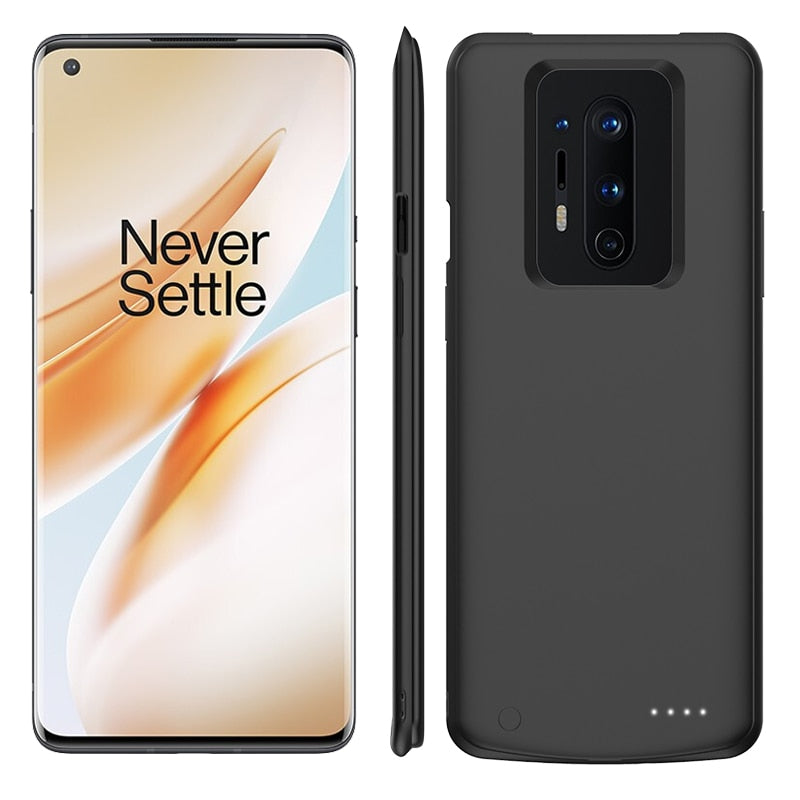 Oneplus 8 Pro Battery Case Charging Cover Portable Rechargeable External Juice Battery Charger Pack Slim Backup Power bank Shockproof Protection