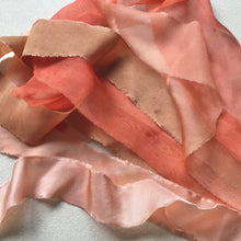Load image into Gallery viewer, Terracotta silk & silk chiffon ribbons