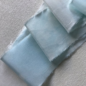 Pale Blue & Medium Blue Silk Ribbon