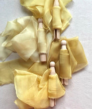 Load image into Gallery viewer, Yellow Silk Chiffon Ribbons