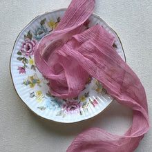 Load image into Gallery viewer, Berry Crinkled Silk Chiffon