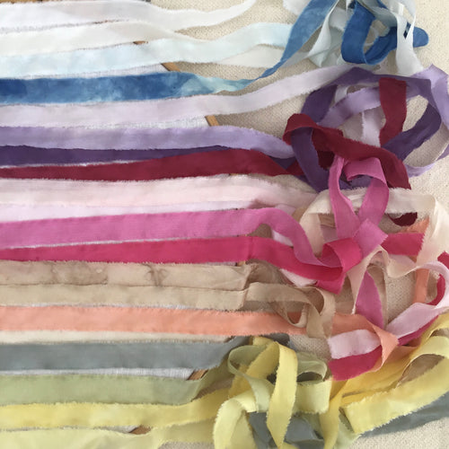 Complete set of narrow silk ribbons ~ A perfect gift