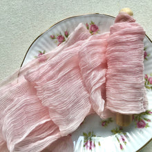 Load image into Gallery viewer, Pale Pink Crinkled Silk Chiffon