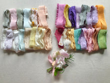 Load image into Gallery viewer, A box of silk ribbons ~ Pastels or Brights