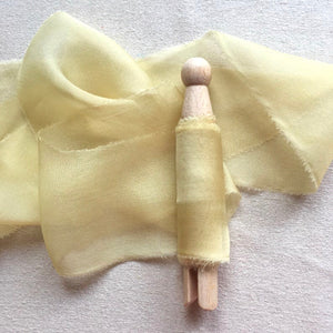 Yellow Silk Chiffon Ribbons