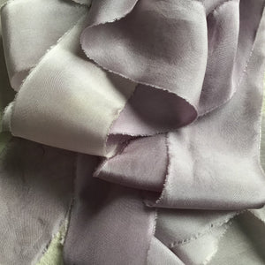 Mauve Silk Ribbons: Dark, Medium & Light