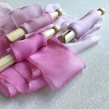 Load image into Gallery viewer, Pink Silk Chiffon Ribbons: Pink, Medium & Light